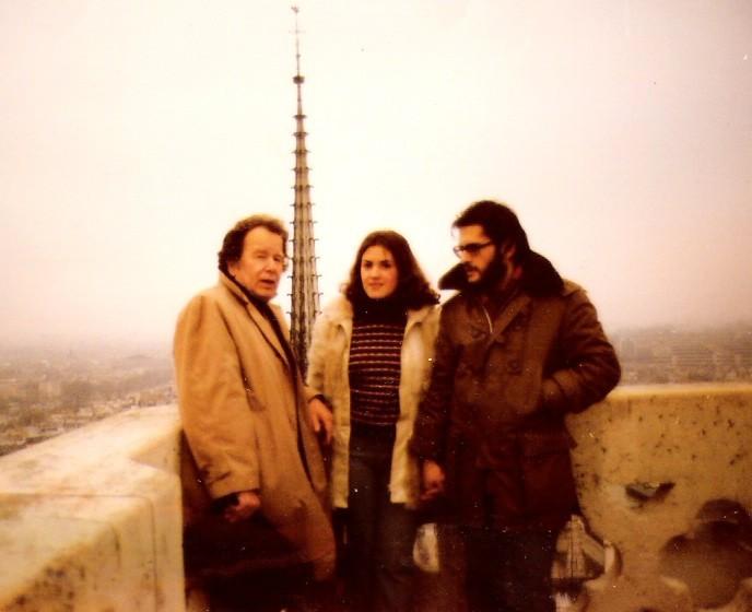 1973. En París con mi tío Fernando y con mi primera mujer, Gloria (1)