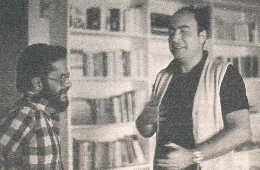1977.10. Con Raúl Guerra Garrido.