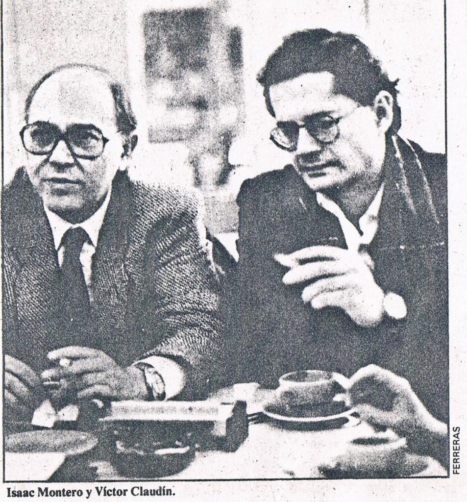 1985.11.22. Acto en Granada con Isaac Montero