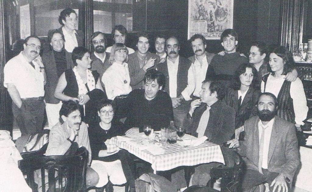 1986.5 Con la plana mayor de los cantautores españoles. Presentación del libro de Lucini.