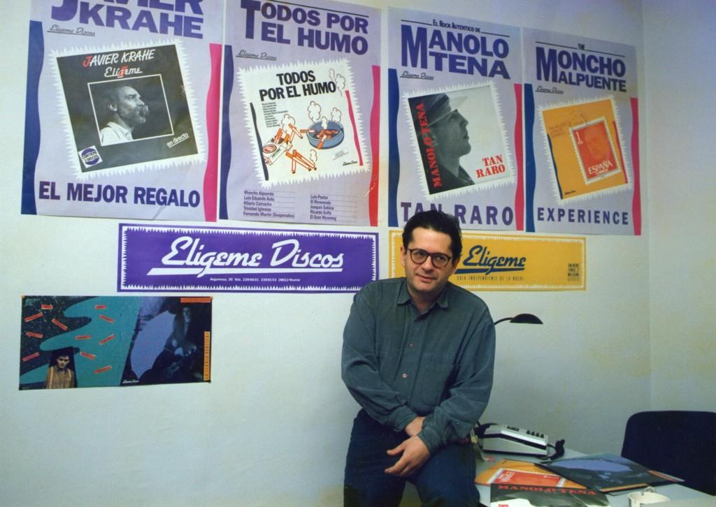 1989. Al frente de Elígeme Discos (c) Paco Manzano