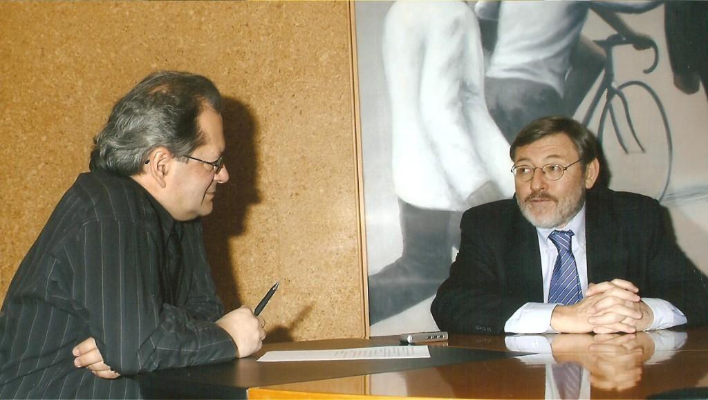2008.1. Entrevistando a Jaime Lissavetzky para Aqui y Ahora