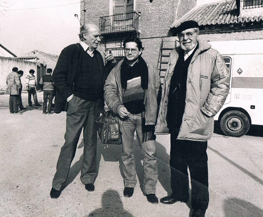 Con Paco Rabal y Fernando Rey