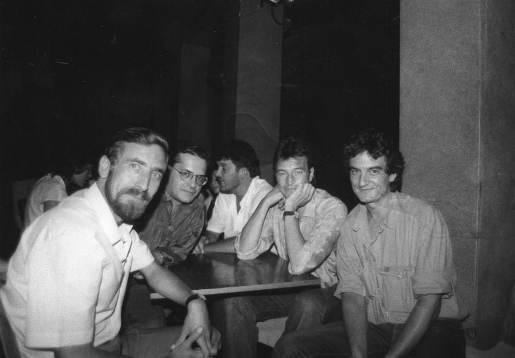 En el Elígeme, con el alcalde Juan Barranco y el grupo Suburbano (Luis Mendo y Bernardo Fuster)